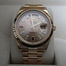 Rolex Day-Date II 18K Yellow Gold/Champagne Diamond-Ruby Dial