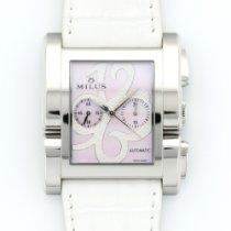 Milus Steel Apiana Chronograph Pearl Watch