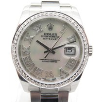 Rolex Datejust 116200 W/ Custom Mop Diamond Dial & Bezel 36mm