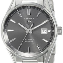 TAG Heuer Carrera Calibre 5 Anthracite Dial Automatic Steel...