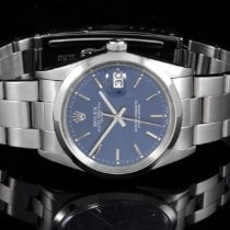 Rolex 15000 SS Men's Oyster Perpetual Date w/ Blue Dial