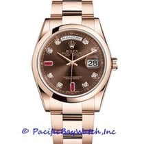 Rolex Day-Date 36 Or rose 36mm Brun