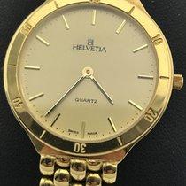 Helvetia new Quartz Gemstones and/or diamonds 32mm Yellow gold