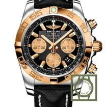 Breitling Chronomat 44 Gold/Steel Leather Strap CB11012/B968