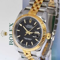 Rolex Datejust 18k Yellow Gold & Steel Watch Box/Papers 116203