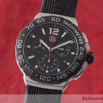 TAG Heuer Formula 1 Quartz rabljen 41.5mm Crn Kronograf Datum, nadnevak Kaučuk