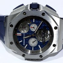Audemars Piguet Royal Oak Offshore Tourbillon Chronograph Stahl 44mm Blau