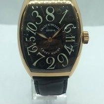 Franck Muller Crazy Hours Rose gold 35mm Black Arabic numerals