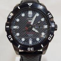 Seiko 5 Sports Steel 45mm Black No numerals