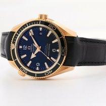 Omega Seamaster Planet Ocean Oro rosado 42mm Negro Sin cifras