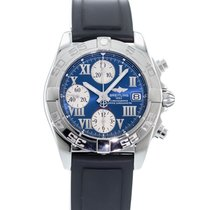 Breitling Chrono Galactic Staal 39mm Blauw