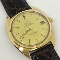 Omega Constellation pre-owned 36mm Gold Leather