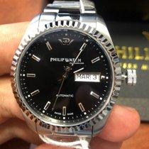Philip Watch Caribe Steel 41mm Black No numerals