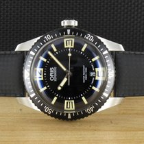 Oris Steel Automatic Black 40mm pre-owned Divers Sixty Five
