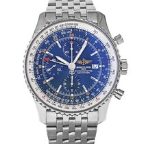 Breitling Navitimer World Steel 46mm Blue No numerals United States of America, Maryland, Baltimore, MD