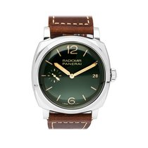 Panerai Radiomir 1940 3 Days pre-owned 47mm Green Date Leather