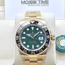 Rolex 116718LN GMT Master II 18K GOLD Ceramic Bezel GREEN [NEW]