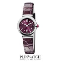 Bulgari Lucea Quartz 28mm Purple Dial Leather Strap 102566...