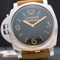 沛納海 Luminor 1950 鋼 47mm 黑色 阿拉伯數字