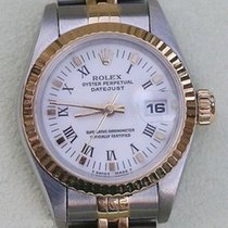 Rolex Ladies Watch Datejust White Dial Jubilee Band Gold Steel...