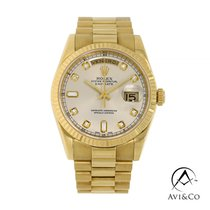 Rolex Day-Date 36 Yellow gold 36mm Silver No numerals United States of America, New York, New York