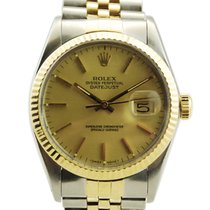 Rolex Datejust Two Tone 18kt Yellow Gold/SS Gold Dial - 16013