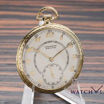 Zenith POCKET WATCH YELLOW GOLD RARE DIAL - EXCELLENT CONDITION