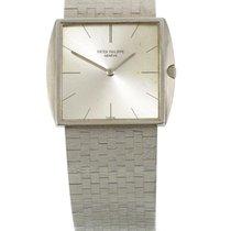 Patek Philippe | A White Gold Rectangular Bracelet Watch Ref...