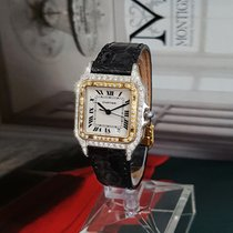 Cartier ladies 18k gold Panther with diamonds + Box