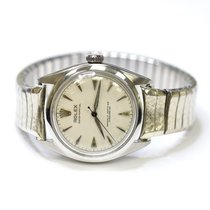 Rolex Oyster Perpetual Vintage 34mm Stainless Steel Watch on...