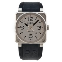 Bell & Ross BR 03-92 Steel BR0392-GBL-ST/SRB new