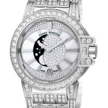 Harry Winston Ocean Neuve Or blanc 36mm Quartz