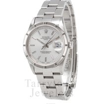 Rolex Oyster Perpetual Date pre-owned 34mm Silver Date Steel