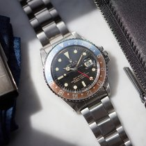 Rolex GMT-Master 1675 steel with gilt dial - full set