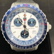 TAG Heuer Chronographe 43mm Quartz 2003 occasion Blanc