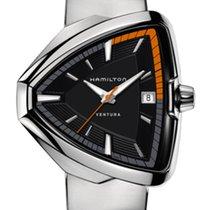 Hamilton Steel Quartz Black 42.5mm new Ventura