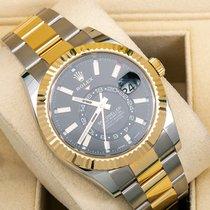 Rolex Sky-Dweller Gold/Steel 42mm Black No numerals United States of America, New York, NewYork