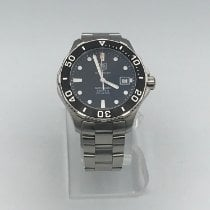 TAG Heuer Steel Automatic Black No numerals 41mm pre-owned Aquaracer 300M