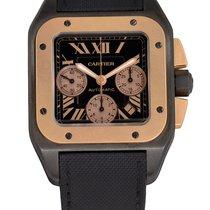 Cartier Santos 100 Титан Чёрный Римские