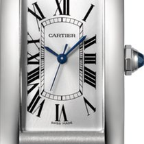Cartier Tank Américaine Steel 41.6mm Silver Roman numerals