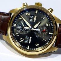 IWC Pilot Spitfire Perpetual Calendar Digital Date-Month Pозовое золото 46mm Cерый