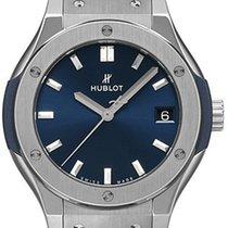 Hublot Titanium Quartz Blue 33mm new Classic Fusion Blue