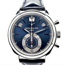 Patek Philippe Annual Calendar Chronograph Platine 40.5mm Bleu Sans chiffres