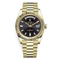 Rolex Day-Date 40 Oro amarillo Negro