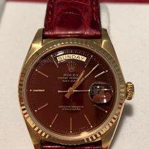 Rolex Day-Date 36 gebraucht 36mm Datum Leder