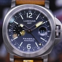 Panerai Luminor Gmt 44mm Anthracite Blue Dial Automatic Pam 89...