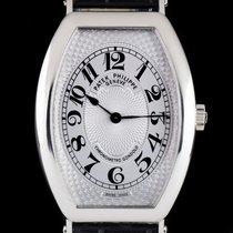 Patek Philippe Tonneau Gondolo Gents Platinum Silver Guilloche...
