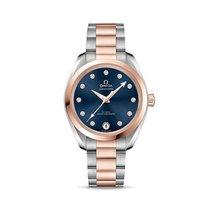 Omega Seamaster Aqua Terra Or rose 34mm Bleu