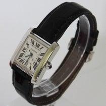 Cartier Tank Franchise 18K White Gold Watch Ref 2366