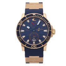 Ulysse Nardin Maxi Marine Diver Rose gold 42.7mm Blue No numerals